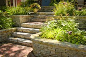 Terrazzamenti giardino